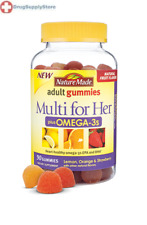 Nature Made Multi for Her plus Omega-3s Adult Gummies 80 Counts Multi-Vitamins