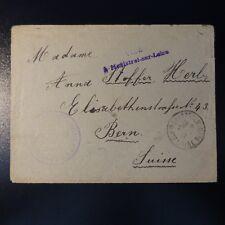 """LETTRE COVER PRISONNIER DE GUERRE """"VISÉ A MONISTROL SUR LOIRE"""" 1917 -> BERNE"""