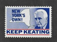 1964 Kenneth Keating Campaign Stamp for Senator of the Republican Party