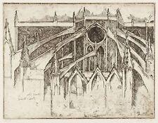 WIELAND FÖRSTER - Versuch über Notre Dame - Radierung 1985