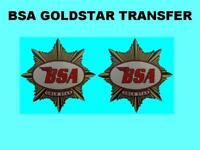 BSA Tank Transfers Decals for a BSA Goldstar, stating Goldstar on transfer