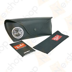 Rayban Sunglasses Eyeglasses Carbon Fiber Soft Black Case with Cleaning Cloth