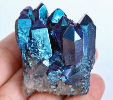 261Ct Mystic Crystal Cluster Purple Green Druzy SpecimenCoated YEGZ515