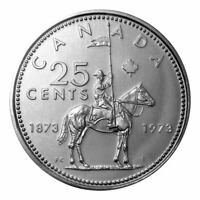 🇨🇦 Canada quarter 25 cents coin, RCMP Mounted Police, 1973