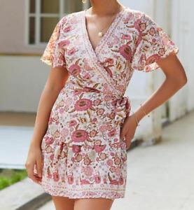 Women Short Sleeve V-neck Casual Beach Summer Maxi A-line Cocktail Party Dress