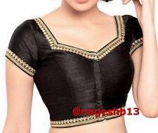 Readymade Saree Blouse, sari blouse, Ready to Wear Blouse, Black Kundan Blouse