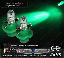 LED Cap B8.4D Xenon Green Dashboard Cluster Speedometer Instrument Light Bulbs