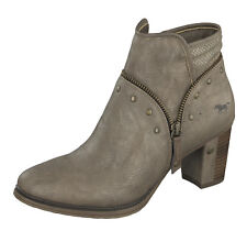 64a9a3b1a4d1 Mustang NEW 1199-518 taupe light brown lace up women s ankle boots sizes ...
