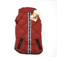 ED Ellen Degeneres Dog Apparel Dog Apparel Maroon Pocket Jacket Coat Size S