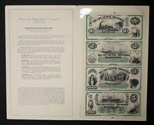 1995 American Bank Note Co. Special Edition City of Brunswick GA 4 Bill Sheet
