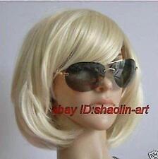 Wigs,blonde court raide santé cosplay Costume cheveux perruques