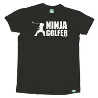 Golf Golfing T-Shirt Funny Novelty Mens tee TShirt Ninja Golf