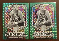 2019-20 PRIZM MOSAIC GREEN OLD SCHOOL #6 DENNIS JOHNSON CELTICS Lot Of 2