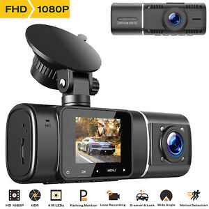 TOGUARD 1080P Dual Car Dash Cam Front and Cabin Video Recorder Camera Uber Taxi