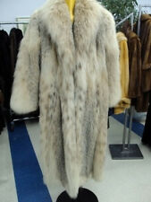 BRAND NEW NATURAL MONTANA LYNX FUR COAT WOMEN WOMAN SIZE ALL