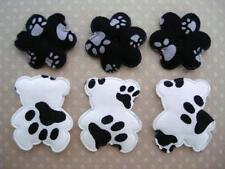 50 Cute Fabric Bear & Foot Print Flower Applique Mix Set/trim/quilting/Baby H483