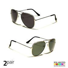 Men s Polarized Sunglasses Gold Driving PILOT Outdoor Silver Eyewear Glasses  x 75b98f99892