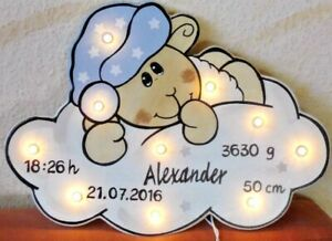 kleine LED Schlummerlicht  Lampe SCHAF Geschenk Baby Geburt Taufe sheep Stern