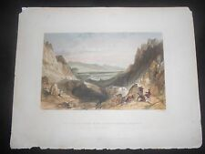 1839 ENGRAVING HANDCOLORED ENGLAND PASS OF CAIRNGORM LOOKING TOWARDS AVIEMORE
