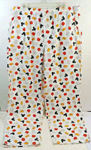 VTG Disney World Mickey Mouse Sleep Lounge Pajama Pants Bottoms  Adult Men's LG