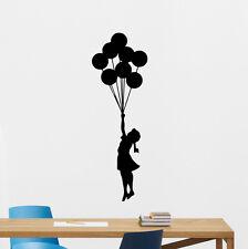Banksy Balloon Girl Decal Wall Vinyl Sticker Kids Nursery Decor Art Mural 251hor