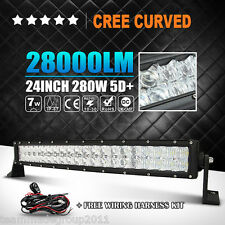 24inch 280W Curved LED Light Bar Spot Flood Combo Offroad Driving 4WD 5D CREE 22