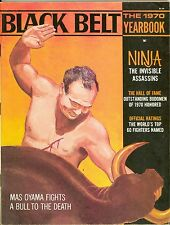 1970 Black Belt Yearbook Magazine Mas Oyama Bull Cover