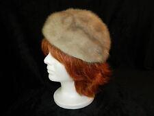 MINK Silver Sapphire Cloche Hat by Marche' Exclusive Medium Large Excellent Cond