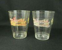 2 Vintage McDonalds Clear Plastic Cups Ronald McDonald