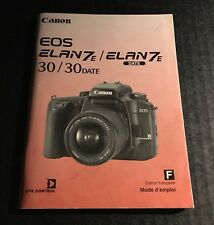 Canon EOS Elan 7E / 30 Date - User Instruction Manual - French Edition