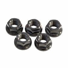 5x Titanium Rear Sprocket Nuts Black Yamaha YZF R6 1998-2017 M10x 1.25
