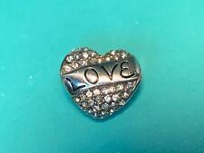 🌸Brighton Silver Crystal Heart Love Always Bead Charm NWOT (C6) 🌸