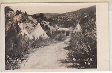 RPPC - Mescalero, NM - Apache Camps on Indian Reservation - 1920s era