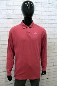 Polo Uomo Kappa Taglia XL Maglietta Colletto Manica Lunga T-Shirt Man Casual