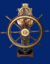 RARE HUGE VINTAGE BRASS JOHN H. GREENOCK STEERING STATION Italian ocean liner