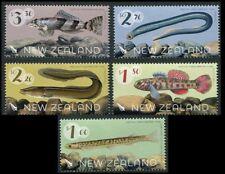 POISSON Lamprey indigènes eau douce MNH 5 TIMBRES 2016 Nouvelle-Zélande #2710-4