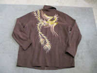 NEW Bob Mackie Peacock Jacket Adult Womens Extra Large Brown Full Zip Coat