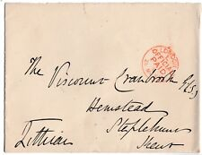 Schomberg Henry Kerr - 9th Marquess of Lothian - original 1888 signed envelope