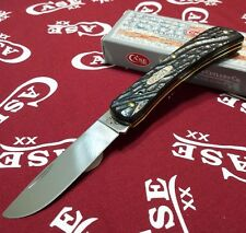 Case XX Folding Knife Sod Buster Jr SS Skinner Blade Rough Black Handle Knives