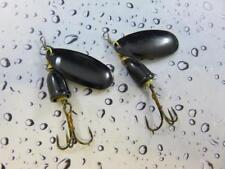 2 x 10g sonic spinner black / black lures pike perch bass trout river fishing