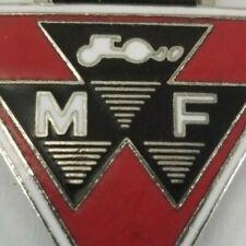 Vintage Massey Ferguson M F Logo Pendant & Lanyard Leather Farm Key Chain Ag 4H