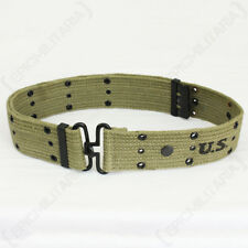 WW2 US Olive Pistol Belt - Repro American Army Uniform Soldier Military USA New