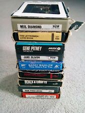 Lot of (9) 8-Track Tapes Untested Various Artists Shipped Free One Owner