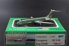 """Evergreen  DC9-30 """" Reg: N940F """" Silver """"   1:400 Net models LAST 3 PIECE"""