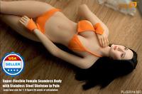 Phicen 1/6 Female Seamless L Bust Figure Body in PALE w/ HEAD & BIKINI set