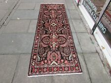 Vintage Traditional Hand Made Oriental Faded Brown Red Wool Long Runner 267x88cm