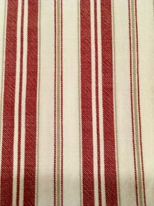 Pottery Barn Shower Curtain, Red & Cream Antique Stripe