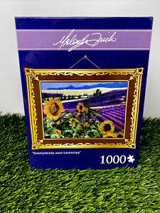 "Malenda Trick 1000 Piece Puzzle🌻 ""Sunflowers & Lavender"" 🌾Rare👀 Free Ship✅"
