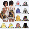 3D Emoji Gym Bag Unisex Emoticon Drawstring Shoulder School PE Kit Shoe Backpack
