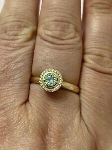 Paraiba Turmalin Ring Aus 585er Gelbgold